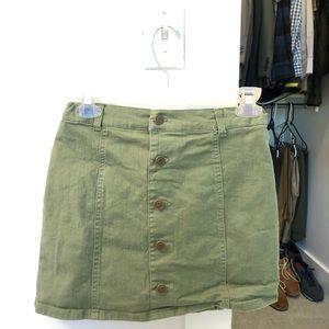 Girls green skirt